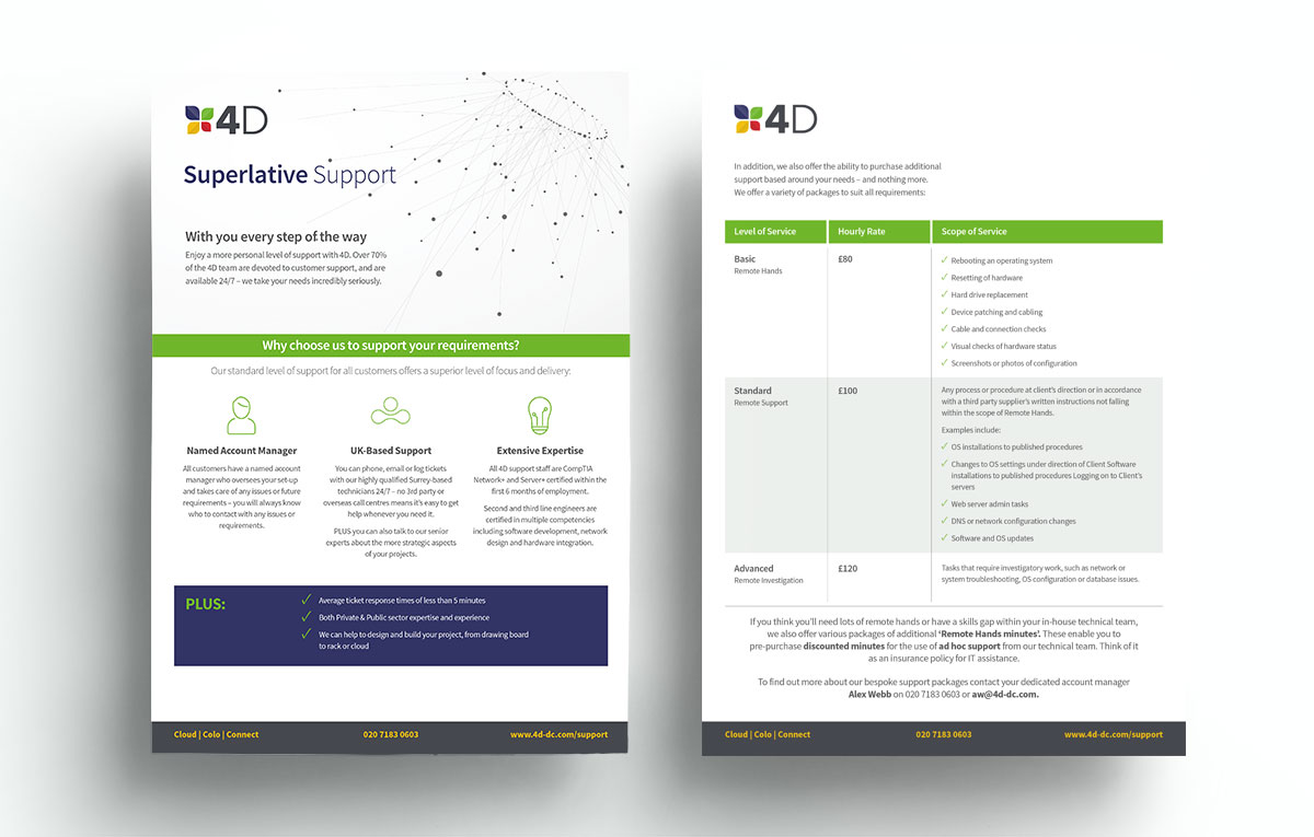 4 D Superlative Support Fact Sheet