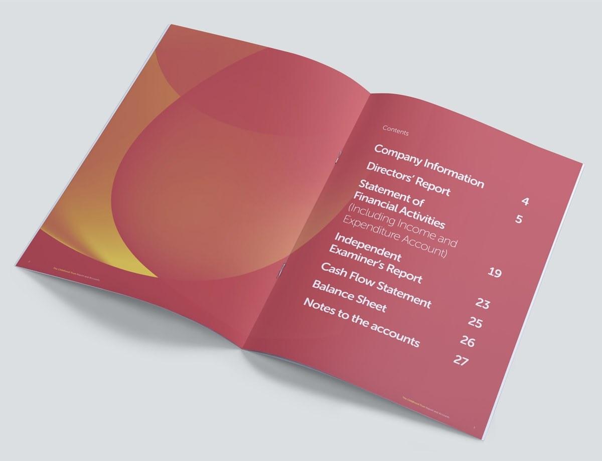 Charity Annual Report Design - Content Spread