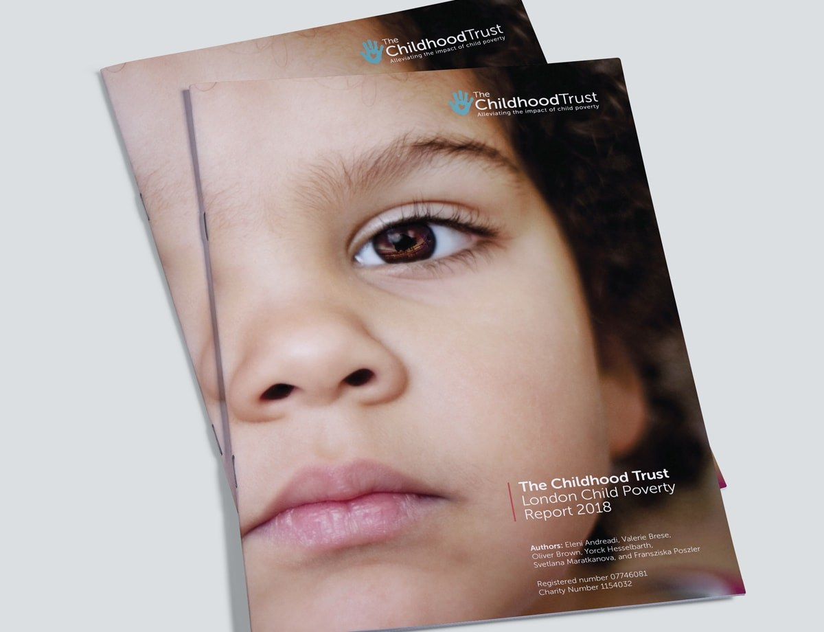 Charity Brochure Design - Poverty Report Cover
