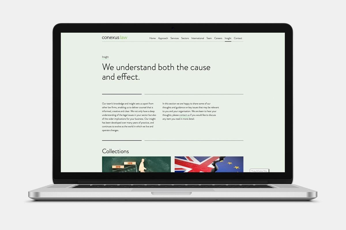 Conexus Law Website Insight
