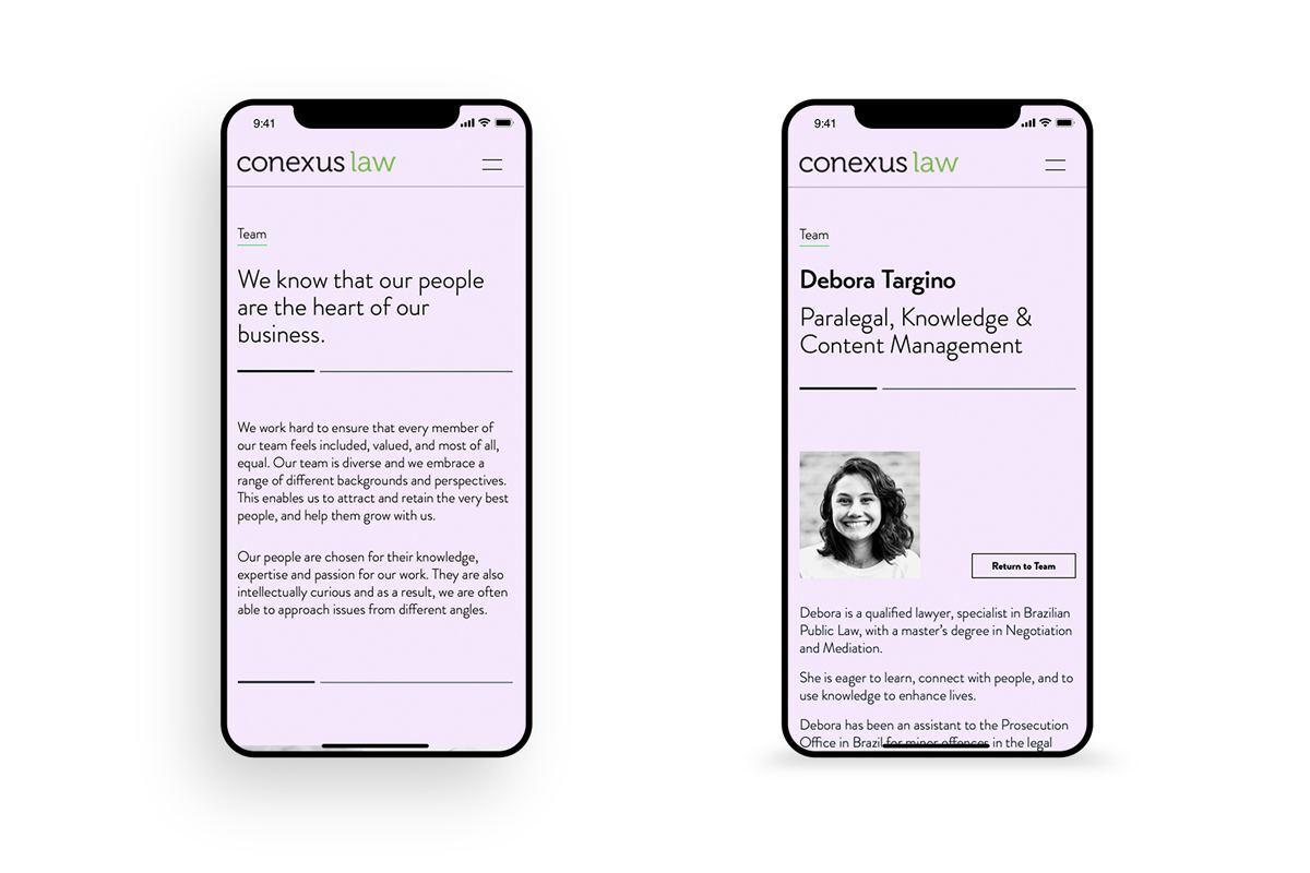 Conexus Law Website Team